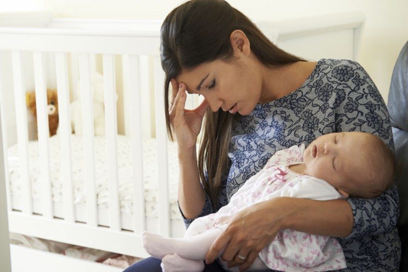 47650188 - tired mother suffering from post natal depression