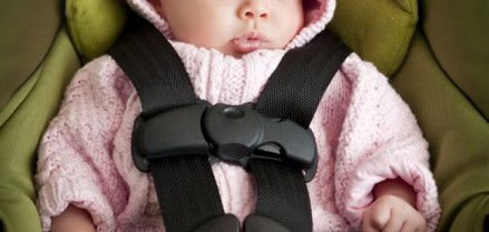 8776084 - baby girl in car seat